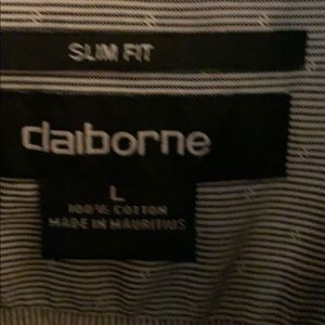 Claiborne Shirts - Men's Slim Fit Claiborne Cotton button down